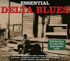 2 CD BOX ESSENTIAL DELTA BLUES MUDDY WATERS ELMORE JAMES ROBERT JOHNSON ETC