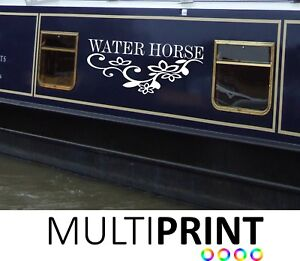 2 x Narrow Boat Barge Canal Boat Personalised Name Vinyl Sticker Graphic BOAT3