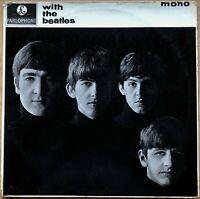 WITH THE BEATLES 1ST PRESS 1963 UK PARLOPHONE  MONO VINYL LP  PMC 1206 JOBETE