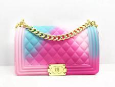 Pink and Blue Jelly Bag Multicolored fashion purse Crossbody Chain Bastex