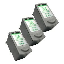 3 BLACK PG-40 Ink Cartridge for Canon iP 1200 1300 1700 1900 2200 2500 iP 2600
