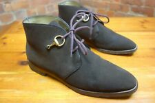 GUCCI brown suede DESERT style boots BRASS HORSEBIT front detailing rrp £615.00