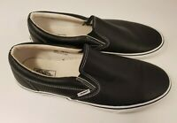 VANS size 10 (US12) black leather skater shoes slip on loafers casual flats