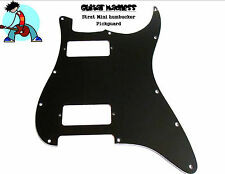Black Mini Humbucker 3-PLY Strat Pickguard fits USA &MIM for Fender ® NO CONTROL