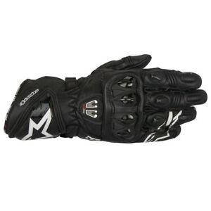 Alpinestars GP Pro R2 Leather Racing Track Motorcycle Riding Gloves - Black
