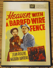 HEAVEN WITH A BARBED WIRE FENCE 1939 GLENN FORD JEAN ROGERS R0 DVD SHIPS FROM UK