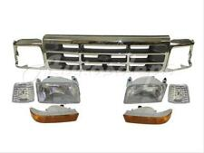 92-98 FORD F150 F250 F350 GRILLE CHROME HEADLIGHT DOOR PARK SIDE MARKER LIGHT 9P