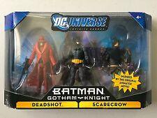 """DC Universe BATMAN GOTHAM KNIGHT 3 Figure Set DEADSHOT SCARECROW 3 & 3/4"""" DCU"""