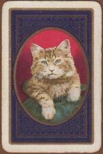 Playing Cards Single Card Old Vintage TABBY KITTEN CAT Pet Artist Art Portrait