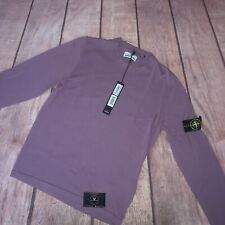 "Stone Island Crewneck Knitted Jumper Pink Medium 21"" Pit To Pit - £225"
