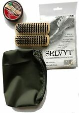 bottes militaires Kit d'Entretien - Vert pochette marron KIWI PARADE brillant +