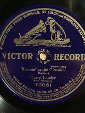 "Harry Lauder ""Roamin' In The Gloamin"" 78 RPM 12-inch  Victor (70061) 1911"