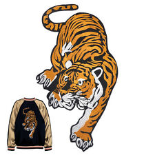 Big Embroidered Tiger Applique Sew Iron on Cloth Patch Badge For Jacket Jeans