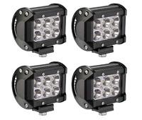 4PCS 18W Led Pods 4D Lens Spot Beam Led Work Lights Driving Fog Light Off Road L