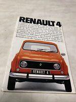 Renault 4 R4 4L 1978 R4L R4TL R1126 catalogue prospectus brochure dépliant