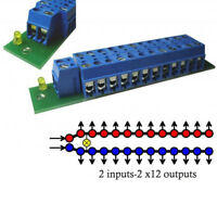 1 Set Power Distribution Board With Status LEDs for DC and AC Voltage PCB001