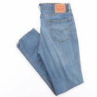 LEVI'S 511 Blue Denim Slim Straight Jeans Mens W36 L31