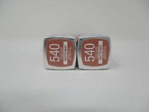 2 - Maybelline Colorsensational Lipstick New Nouveau -540 Peach Buff matte