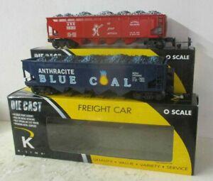 K-LINE 'O' DIE-CAST 623-1037 & 623-1012 HOPPER CAR LOT