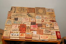 Lot of 57 Rubber Stamps Assorted Themes, Used