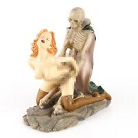 Handmade Skeleton and Girl Sex Love Resin Sculpture Ornament Home Decor