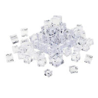 Fake Clear Acrylic Plastic Ice Cubes Display Photography Props Home Decor 20mm