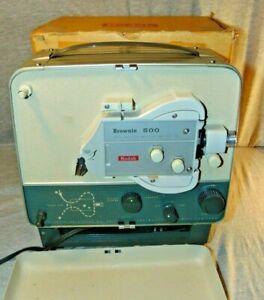 Vintage Kodak Brownie 500 A-5 Film Projector w/ Box and Manual Lights Up 8mm