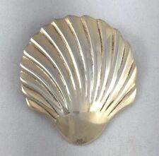 "Calvaire Designer Signed Sterling Shell Pin/Brooch - 1 3/4"" x 1 1/2"""