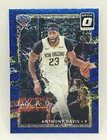 2017-18 Panini Donruss Optic Basketball Anthony Davis Blue Velocity Prizm Pels