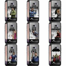 THE UMBRELLA ACADEMY POSTER 2 BLACK HYBRID GLASS BACK CASE FOR SAMSUNG PHONES