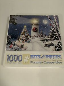 BITS AND PIECES 1000 PIECE PUZZLE - Coastal Holiday Lights