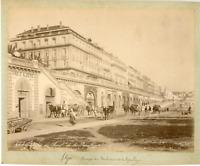 Algérie, Rampes du Boulevard de la République  Vintage albumen print.  Tirage
