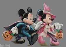 "Disney's ""Trick or Treating Mickey and Minnie"" Cross Stitch Pattern CD"