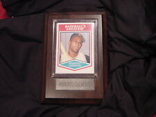 Roberto Clemente Baseball Card Plaque With Rare Card, Pittsburgh Pirates, Nice!