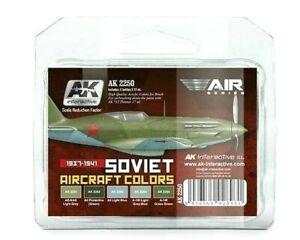 AK Interactive Soviet Aircraft Colours 1937-1941 Peinture Acrylique Set Pour