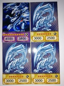 3x Blauäugiger weißer Drache + ultimativer Drache Common. !!ANIME ORICA yugioh