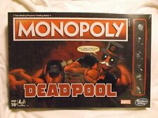 ▶ Deadpool Monopoly Game Sealed Marvel Edition Board Game Hasbro New NIB