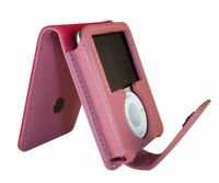 Exspect Leather Pink Flip Protective Skin Cover Case iPod Nano 3rd Gen UNBOXED