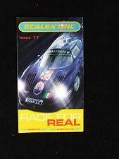 Scalextric Carrera por la verdadera cuestión 11 catálogo folleto desplegable en estilo