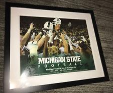 2017 Michigan State Spartans team signed FRAMED POSTER win vs U-M MARK DANTONIO