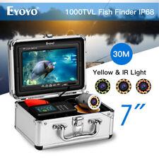 "Eyoyo Fish Finder 7"" Display Underwater Fishing Camera Video HD 1000TVL Monitor"