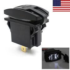 Portable LED 12V 24V 3.1A Car Dual USB Power Supply Charger Port Socket Kit US