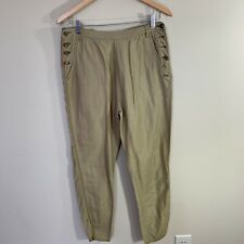 fb1a5142f996 Maison Scotch New Friends Rust Linen/Cotton Chino Pants Embroidered Waist 1  S