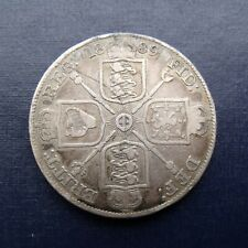 More details for 1889 double florin victoria jubilee british silver coin