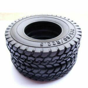 UK Rubber Tires 4PCS Tyres For Tamiya 1/14 Tractor Truck Trailer Climbing Car