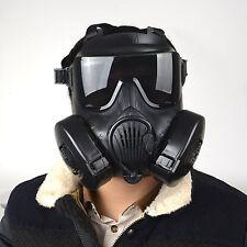 Black Military Tactical Wargame Paintball CS WAR Full Face Skull Gas Mask M50