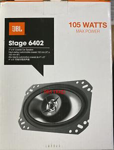 """Brand NEW JBL STAGE 6402 105 WATT 4"""" X 6""""  2-WAY Coaxial Car Speakers 4X6 Pair"""