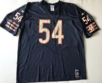 Vintage Reebok Brian Urlacher NFL Football Jersey 54 Chicago Bears GSH HOF
