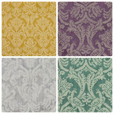 Silver Gold Teal Green Purple Plum Fabric Damask Brocade Upholstery Drapery IL9