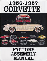 1956 1957 Corvette Assembly Manual 56 57 Chevy Factory Chevrolet